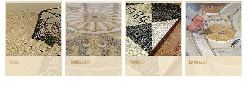 Friul terrazzo pavimenti in terrazzo veneziano mosaici for Mosaici in marmo per pavimenti